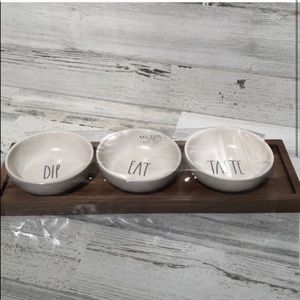 Rae Dunn DIP EAT TASTE dip bowl set NEW